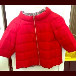 Chico's brand red puffer jacket